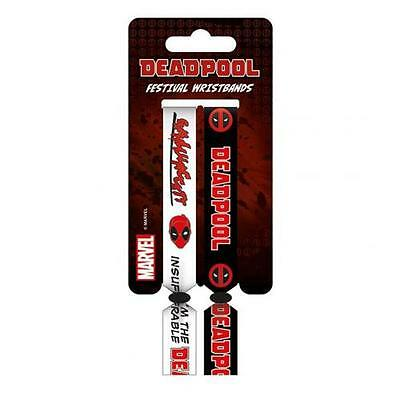 Official Licensed Product Deadpool Festival Wristbands Arm Band Fan Fun Gift New