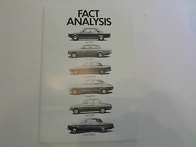 AUDI 100LS. Fact Analysis RARE, Gloss, high quality paper. Take a look.