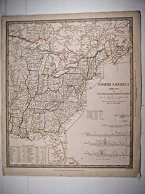 1834 SDUK: North America - Index Map to Canada and the United States