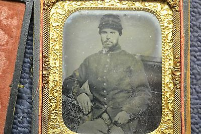 Ambrotype Photograph Civil War Soldier South Southern