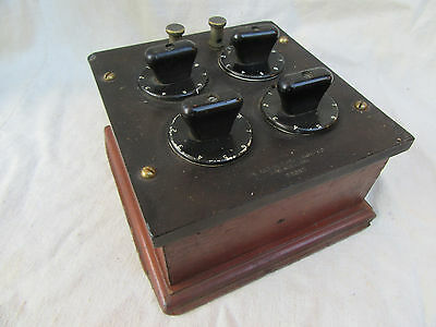 Vintage Resistance Decade Box Patented 1914
