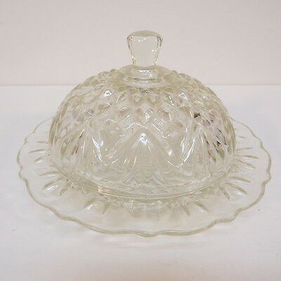 Anchor Hocking Pineapple Clear Butter Dish