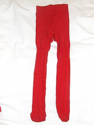 Girls M&S red tights age 4-5 years