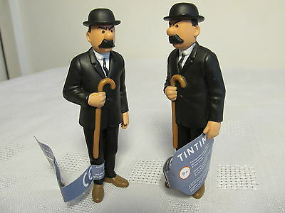 TIN TIN FIGURES~THOMSON and THOMPSON~DUPOND et DUPONT~OFFICIAL LICENSED~3.5 INCH