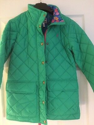 Girls Joules Quilted Jacket Age 11-12 Years Brand New!!