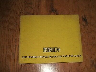 Renault - The Leading French Motor Car Manufacturer - 1968 book;R4,R8,R16,Alpine