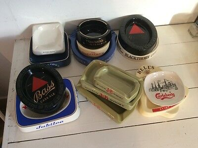 Collection of 14 Wade Ashtrays