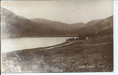 CRIEFF Loch Turret Early RP Postcard Perthshire