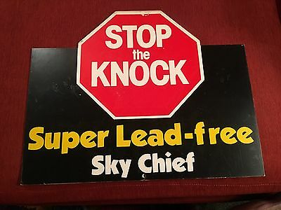 Texaco Sky Chief Stop The Knock Double Sided Sign