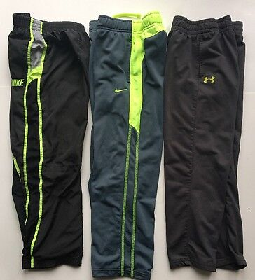 NIKE Under ARMOUR Boy's Lot Of 3 Track Athletic Jogger Pants SZ 6-7 Therma-Fit