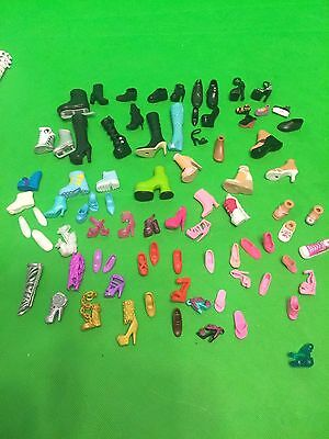 Barbie  and Friends Doll Shoes Mixed Lot Of Single No Matches Miss Matched