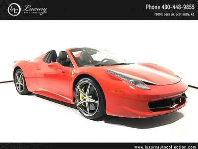 2014 Ferrari 458 Base Convertible 2-Door Carbon Fiber Shields Navi Diamond Wheels 13 15