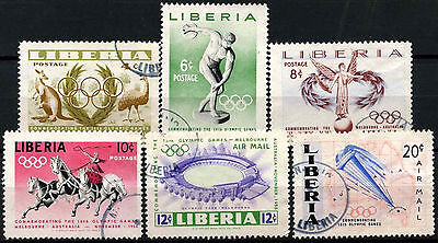 Liberia 1956 SG#784-9 Olympic Games Used Set #D39624