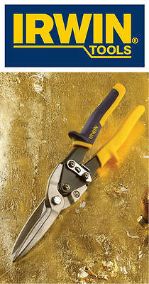 IRWIN Aviation Straight Cut Sheet Metal Snips/Shears Precision Formed*REAL DEALS