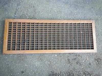 "Vintage Tin Floor Grille Heat Grate Register 32"" long x 12"" wide"