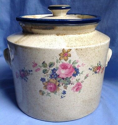 ROBERT GORDON rare ANNIES RANGE large biscuit barrel canister AUSTRALIAN POTTERY