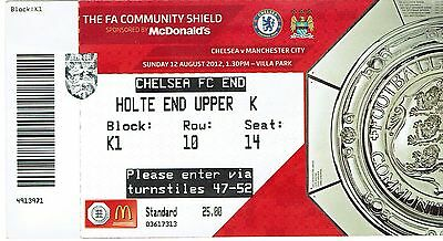 Chelsea v Manchester City - FA Community Shield 2012 - Used Ticket