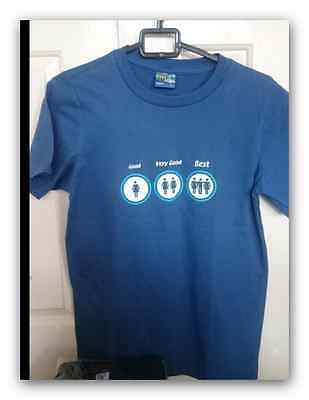 Joblot novelty t-shirts Medium (3 t-shirts in total- 2 black, 1 blue)