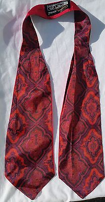 Vintage TOOTAL Red Paisley Cravat Christmas Tie Mod Indie Party