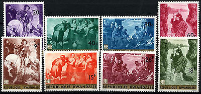 Rwanda 1967 SG#208-215 Paintings MNH Set #D39661