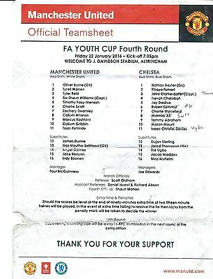 Manchester United v Chelsea - FA Youth Cup Round 4 - 2015/16