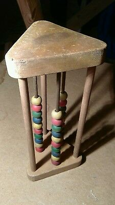A Vintage 1950s Childs Wooden Abacus