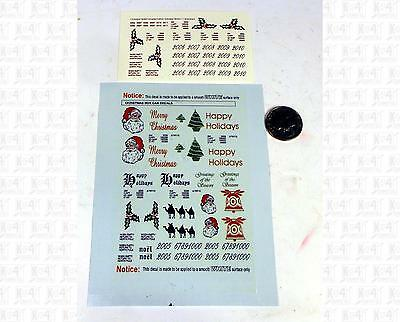 Virnex N Decals Christmas Boxcar Red, Green and Black Santa Claus