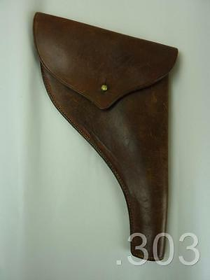 c.WWI British Military Army Officer's .45 Webley Enfield Leather Pistol Holster