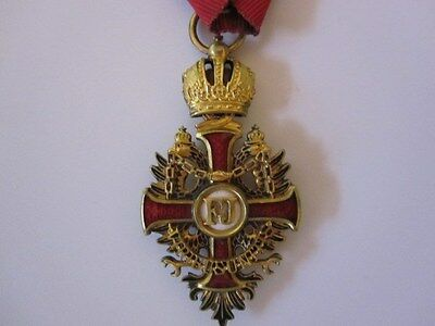 Austrian WWI Military Order of Franz Joseph with Gold Gilt