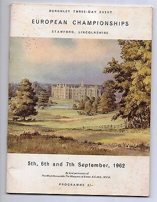 1962 Programme Burghley Three-Day Event European Championships