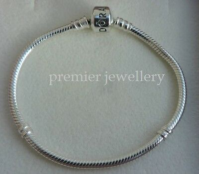 Genuine Authentic Pandora Sterling Silver Clasp Bracelet 590702HV-19