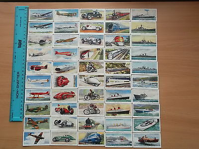 Vintage 'SPEED' (1938) Will's Cigarette Cards (Full Set 50 Cards/Very Good).