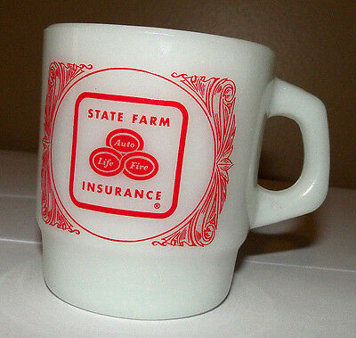 Vintage Anchor Hocking State Farm Insurance Advertising Coffee Mug Cup