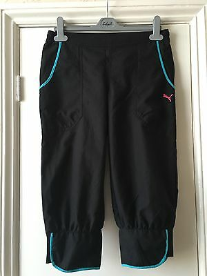 Puma black crop trousers pants size 13- 14years BNWT