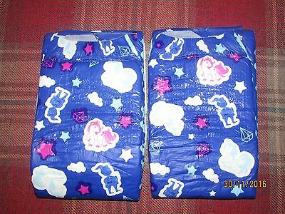 My diaper blue nappies,  adult baby,  Large