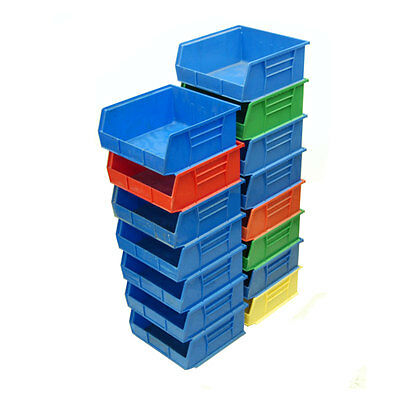 """(Lot of 15) Akro-Mils 30-235 Stack and Hang Bins 30235, 10-7/8"""" x 11"""" x 5"""""""