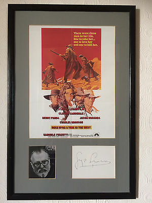 """Sergio Leone - Film Poster and signature. """"Once Upon a Time in the West"""""""