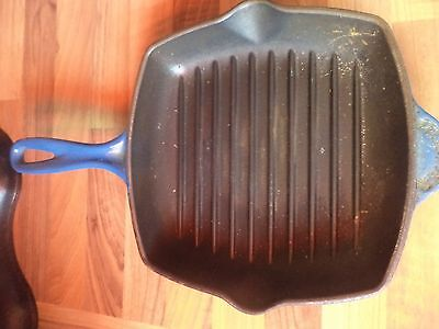 Le Creuset Blue Cast Iron Griddle Pan