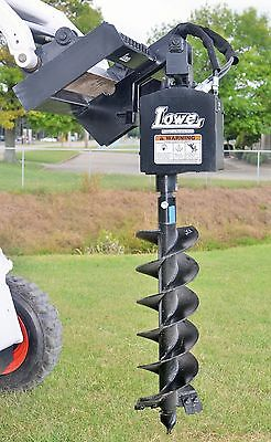 """Bobcat Skid Steer Attachment Lowe 750 Classic Hex Auger with 12"""" Bit Ship $199"""