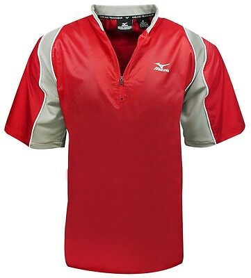 Mizuno NEW Mens Protect Batting Jersey Red Size Large