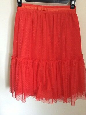 Christmas Party  Skirt Tu Tu Dance  Age 12  Red  Net BNWOtT  Vertbaudet