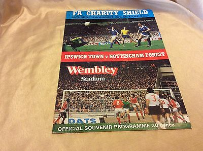 FA Charity Shield  Ipswich Town V Nottingham Forest August 1978 Official Program