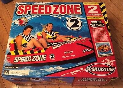 Speedzone 2 Person Boat Towable Tube New, Great Gift Idea!
