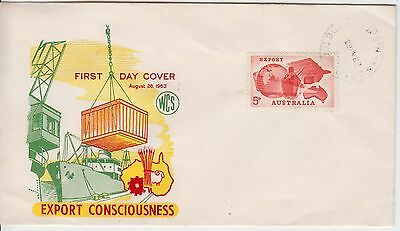 Australia 1963 EXPORT WCS First Day cover unaddressed.North Goulburn cancel