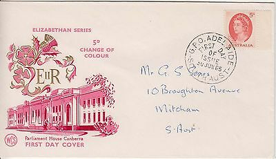 Australia 1962 Inland Mission l Addressed First Day cover.GPO Adelaide