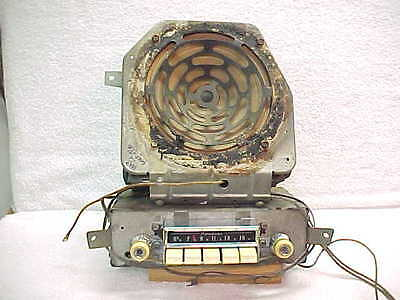 56 Pontiac AM Radio - Excellent and Working - 988623