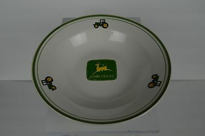 "John Deere Dinnerware 9"" Bowl Gibson Dishes Green Yellow Tractor cereal soup"