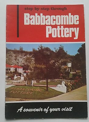 Vintage 70's pamphlet BABBACOMBE pottery Torquay ware making process