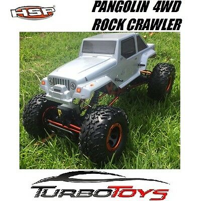 New - Hsp Rc 1/10 2.4Ghz 4Wd 2Ws Jeep Pangolin Rock Crawler 94180 10313 - Rtr -