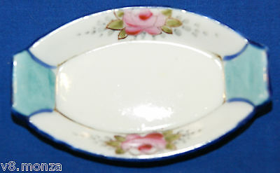 JAPANESE SALTER DISH WITH FLOWERS ~ SALT DISH DIPS CELLARS DISHES OPEN SALTS /d3